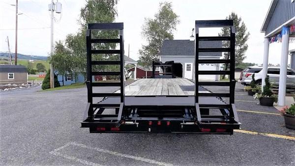Pro Grade Gooseneck Deckover 25 25K Pop Up Dovetail 5 Swing Up Ramps 12 I Beam Frame and Neck Dual 12000 Jacks 10000 Oil Bath Axles 16 Dual Nitrogen Filled Radial Tires