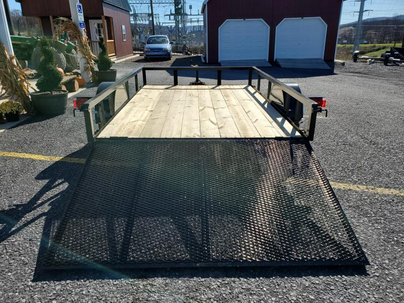 "Economy Single Axle Landscape 10'X77"" 2990 GVWR -4' Full Landscape Gate -2""x2""x3/16"" Angle Frame -2""x2"" Angle Top Rail -3500# Idler Axle -15"" Nitrogen Filled Radial Tires"