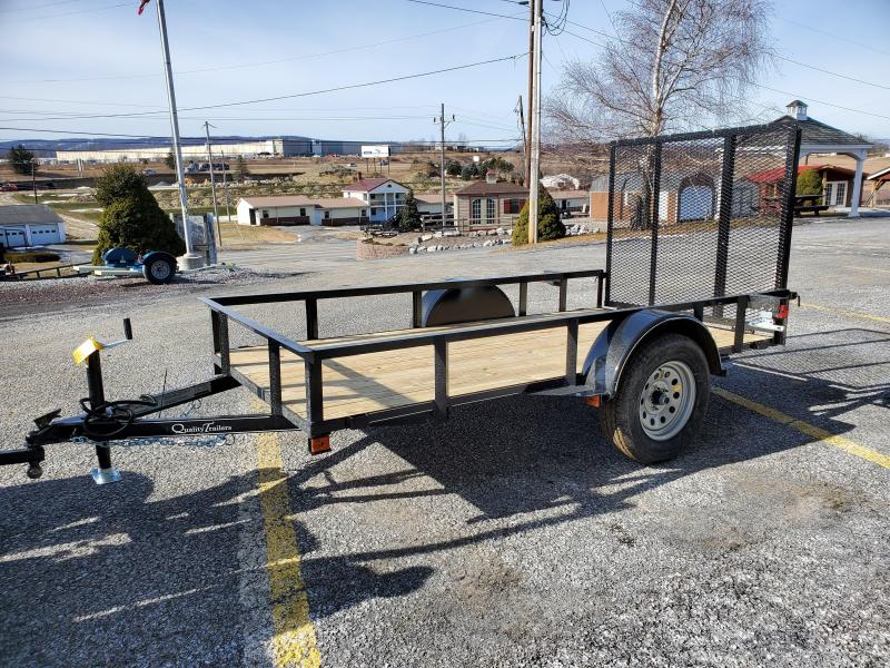 "Quality Trailers Economy Landscape - 10'x60"" - 2990 GVWR - 4' Rear Gate - 15"" Radial Tires - 2""x2"" Angle Frame - 2"" Pressure Treated Wood Deck"