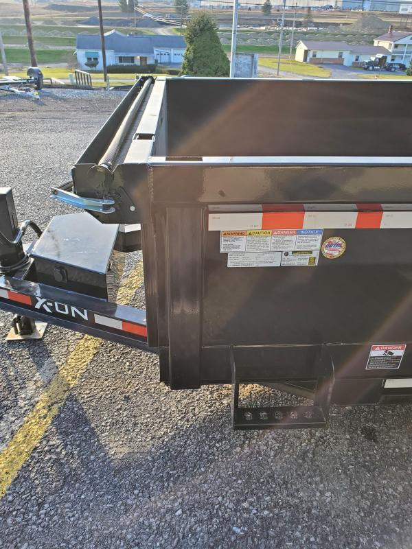 "2021 X-On Low Profile Dump Trailer - 83""x12' - 14K Dump Trailer - 24"" sides - Mesh Tarp Kit - Adjustable Coupler"