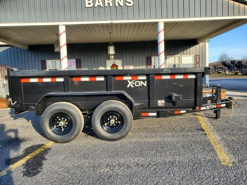 "X-On Low Profile Dump Trailer - 83""x12' - 14K Dump Trailer - 24"" sides - Mesh Tarp Kit - Adjustable Coupler"