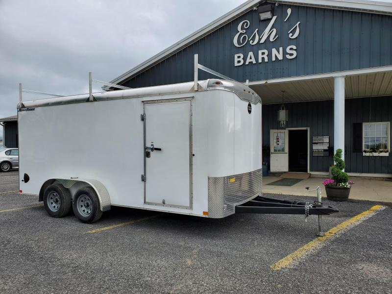 "2020 Wells Cargo- Road Force- Enclosed Cargo Trailer-7'x16'- 7K GVWR- Contractor Package- 3 Ladder Racks- 3/4"" Walls- .030 Exterior- 1 PC Aluminum Roof- 6'6"" Inside Height- RV Door- Armor Guard- Extended Triple Tube Tongue"