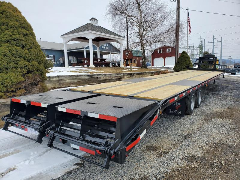 """American Trailer Gooseneck Deckover - 40'+5' (dovetail) - 30K GVWR - Lay Flat Mammoth Ramps - 34"""" Deck Height - Spare Included"""