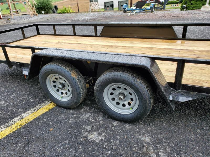 "Economy Tandem Axle Landscape 16' 7K -4"" Landscape Gate -3""x3""x3/16"" Angle Frame -2""x2""x3/16"" Angle Top Rail -4"" Channel Tongue -No Dove -77"" Inside Width -(2) 3500# Braking Axles -15"" Nitrogen Filled Radial Tires"