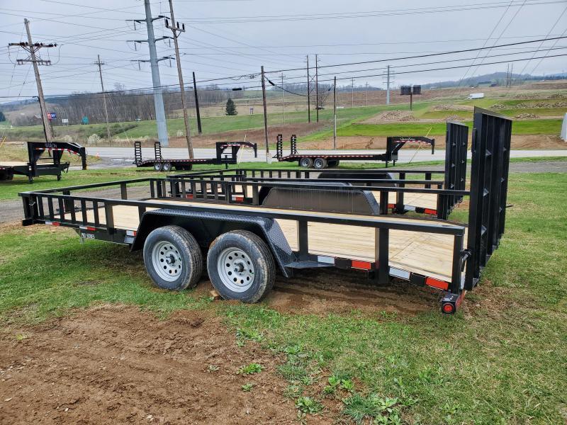 Quality Trailers Pro Grade Landscape - 16' - 7000 GVWR - ATV Rails