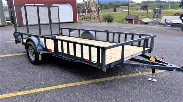 "General Duty Single Axle Landscape 12'X77"" -Optional ATV Rails -4' Landscape Gate -3""x3""x3/16"" Angle Frame -3"" Channel Tongue -2""x2"" Angle Top Rail -15"" Nitrogen Filled Radial Tires"