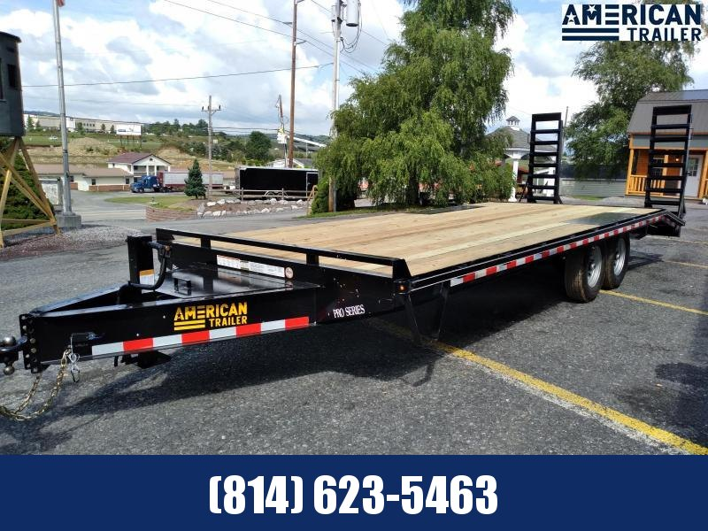 Quality Trailers Pro Grade Pintle Deckover 23' - 16,000 GVWR - Pop-up Dove Tail