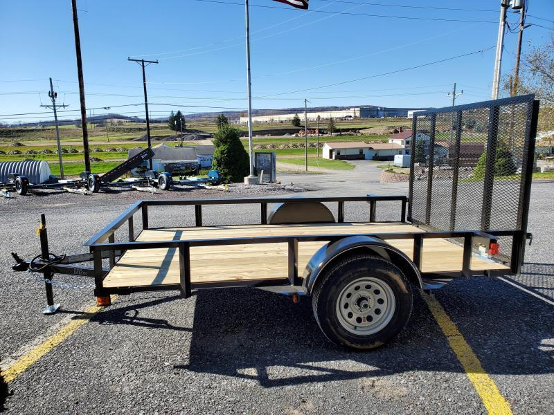 "Trailer Baron Economy Single Axle Landscape 10'X77"" 2990 GVWR -4' Full Landscape Gate -2""x2""x3/16"" Angle Frame -2""x2"" Angle Top Rail -3500# Idler Axle -15"" Nitrogen Filled Radial Tires"