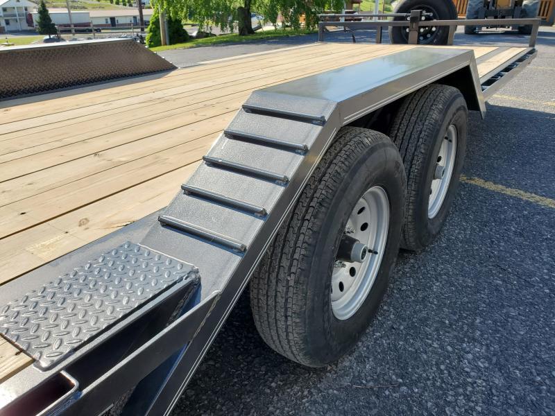 "2021 Delco Trailers Car Hauler / 102""x20' / 12000 GVWR / Gray powder Coat"