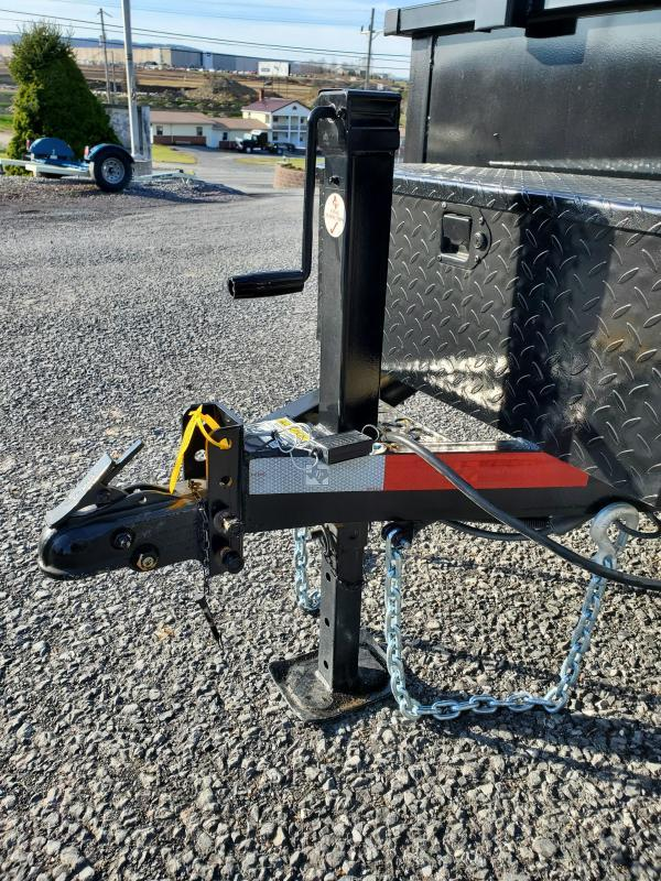 """American Trailer Dumper - 5'x10' - 7000 GVWR - 18"""" Sides - Spare Tire Included"""