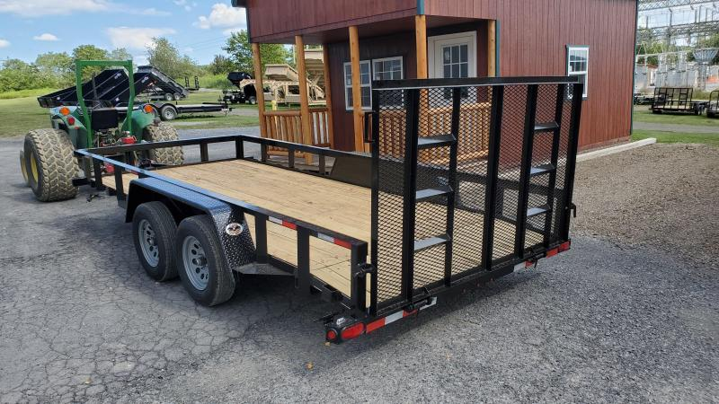 """2021 Quality Trailers General Duty Utility Trailer- 16' - 7K GVWR- 82"""" Between Fender-3""""x3""""x3 3/16"""" Angle Top Rail- 3""""x3""""x3 3/16"""" Angle Frame- 2' Dove Tail- 2 5/16"""" Coupler- 4' Spring Assist Rear Gate- 4"""" Wrap Around Tongue- 15"""" Nitrogen Filled Radial Tir"""