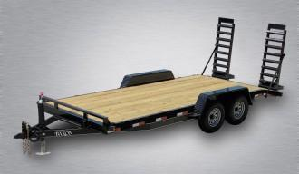 Quality Trailers General Duty Equipment Trailer - 18' - 14K GVWR 6 Channel Frame 3 Channel Cross Members 5 Swing Up Ramps 2 5 16 Adjustable Coupler 7K Dexter Axles 15 8 Ply Nitrogen Filled Radial Tires