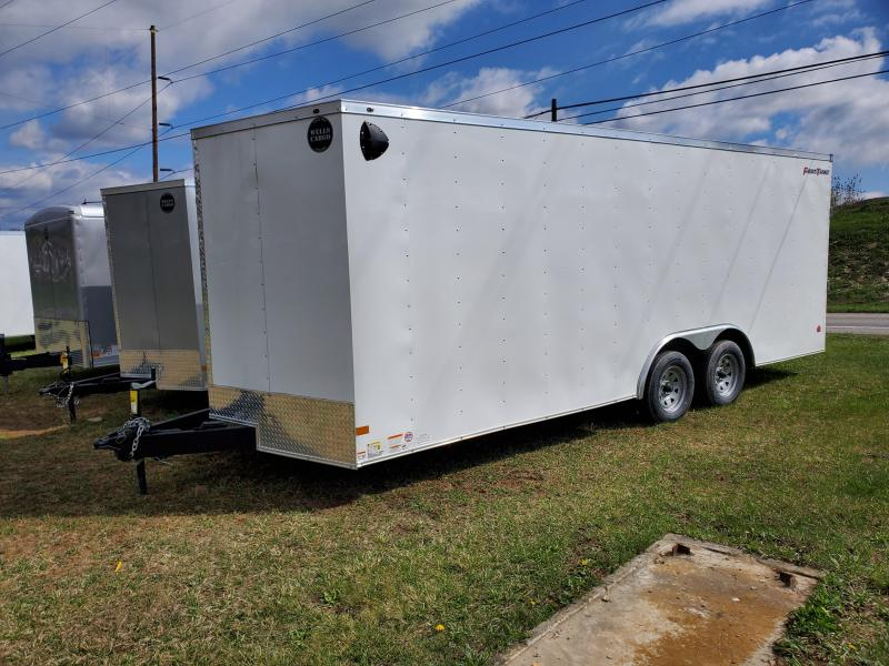 2021 Wells Cargo Fast Trac / 8.5 x 20 / 7000 GVWR / Enclosed Trailer / White Exterior
