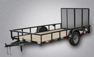 "2021 Quality Trailers 10'x77"" Pro Grade Utility- 4' Rear Spring Assist Gate- 3""x3""x3/16"" Angle Frame- 2""x2""x1/8"" Tube Top Railing- LED Lights- Nitrogen Filled Radial Tires- 3"" Channel Tongue"