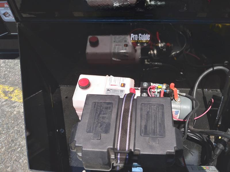 "2021 Fox Trail Master Dump Dual Cylinder Dump Trailer / 82""x14' / 14000 GVWR / Tarp Kit"