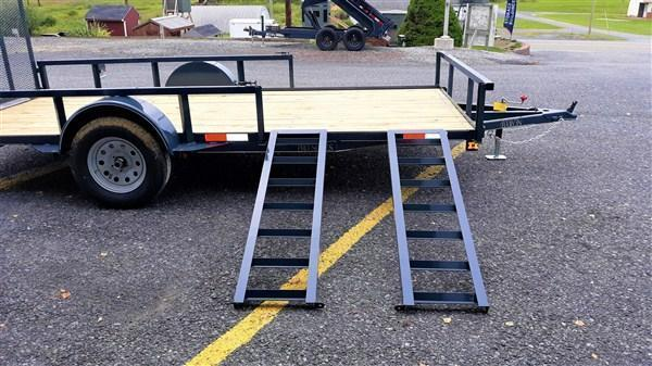 "Trailer Baron Pro Grade Single Axle Landscape 14'X77"" -Optional ATV Rails -4' Landscape Gate -3""x3""x3/16"" Angle Frame -3"" Channel Tongue -2""x2"" Square Tube Top Rail -15"" Nitrogen Filled Radial Tires"
