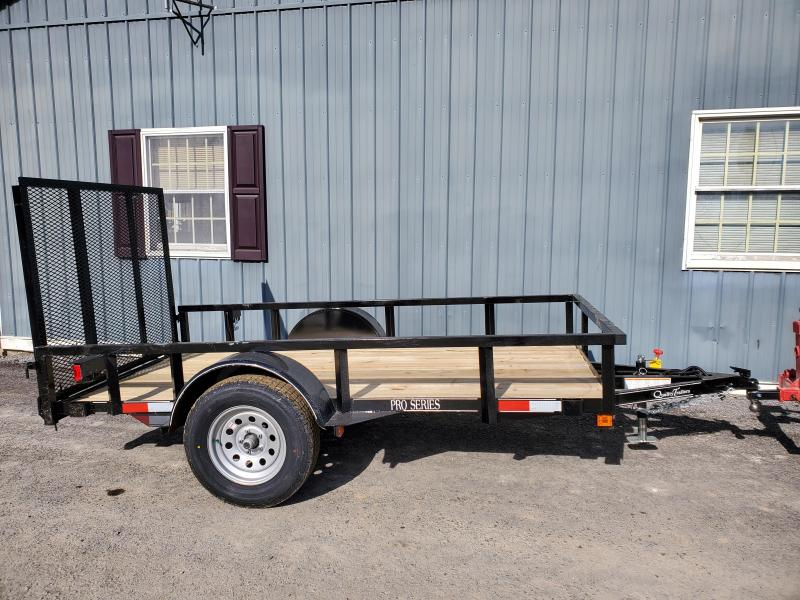 "Quality Trailers Pro Grade Landscape - 10'x60"" - 2990 GCWR - 15"" Radial Tires - 4' Rear Spring Assist Gate - LED Lights - Swing-up Jack"