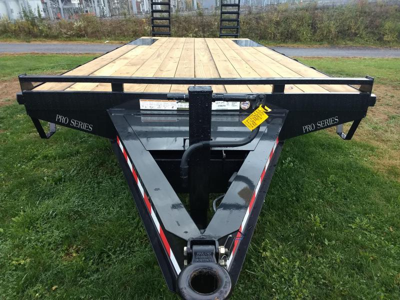 "Trailer Baron Pro Grade Pintle Deckover 23' 16K -Pop-Up Dove Tail -5' Spring Assisted Ramps -10"" I-Beam Frame -Adjustable Coupler -12K Drop Leg Jack -Tool Tray With Lockable Lid -LED Lights -Slipper Spring Suspension -16"" 10 Ply Nitrogen Filled Radial Tir"