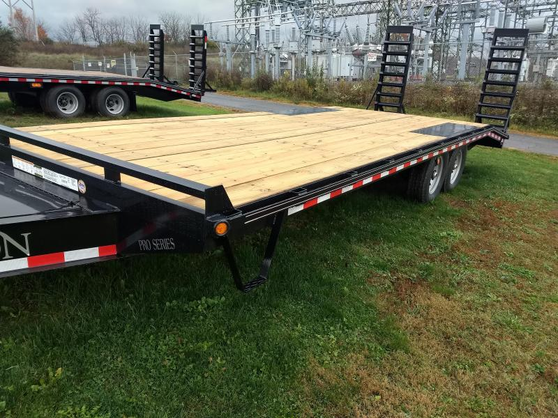 "Pro Grade Pintle Deckover 23' 16K -Pop-Up Dove Tail -5' Spring Assisted Ramps -10"" I-Beam Frame -Adjustable Coupler -12K Drop Leg Jack -Tool Tray With Lockable Lid -LED Lights -Slipper Spring Suspension -16"" 10 Ply Nitrogen Filled Radial Tires"