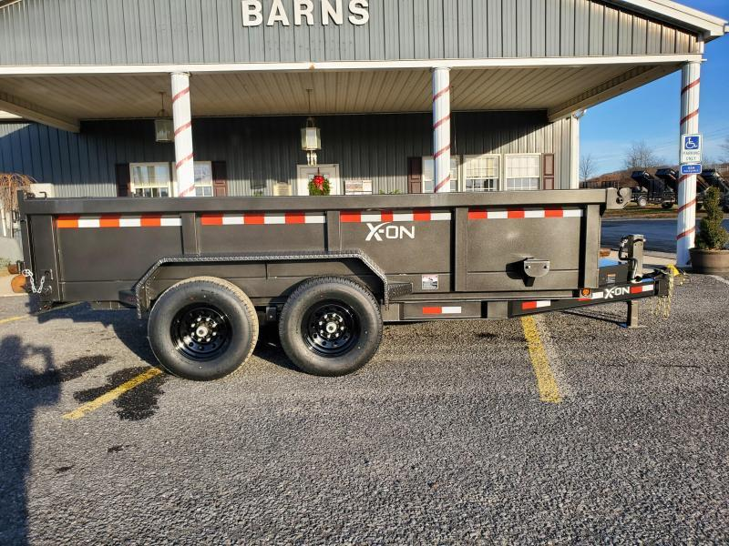 "X-On Low Profile Dump Trailer - 83""x14' - 14K Dump Trailer - 24"" sides - Mesh Tarp Kit - Adjustable Coupler"
