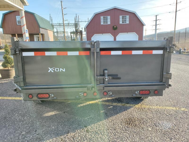 "X-On Low Profile Dump Trailer - 83""x14' - 14K Dump Trailer - 24"" sides - Mesh Tarp Kit - Adjustable Coupler"