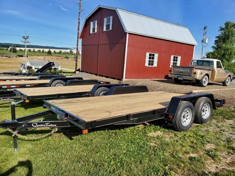Quality Trailers Economy Wood Deck Car Trailer 16' - 7000 GVWR