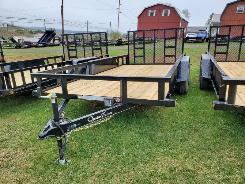 Quality Trailers General Duty Landscape 16 7K  3x3x3 16 Angle Frame 4 Channel Tongue 4 Spring Assisted Gate 2 Dovetail 82 Inside Width 15 Nitrogen Filled Radial Tires