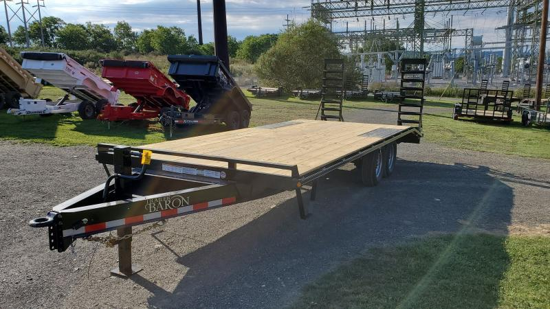 "Trailer Baron General Duty Pintle Deckover 22' 14K -5' Swing Up Ramps -8"" I-Beam Frame -Adjustable Coupler -12K Drop Leg Jack -4' Wood Dovetail -Sealed Beam Lights -16"" 10 Ply Nitrogen Filled Radial Tires"