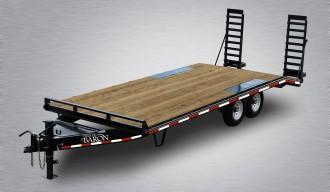"Pro Grade Pintle Deckover 23' 16K -5' Wood Dove Tail -5' Spring Assisted Ramps -10"" I-Beam Frame -Adjustable Coupler -12K Drop Leg Jack -Tool Tray With Lockable Lid -LED Lights -Slipper Spring Suspension -16"" 10 Ply Nitrogen Filled Radial Tires"