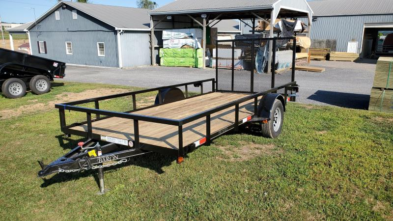 "2021 Quality Trailers 77""x12' Pro Grade Utility Trailer- 3""x3""x3/16"" Angle Frame- 2""x2""x1/8"" Tube Top Railing- 3"" Channel Tongue- 4' Spring Assist Rear Gate- 15"" Nitrogen Filled Radial Tires- LED Lights"