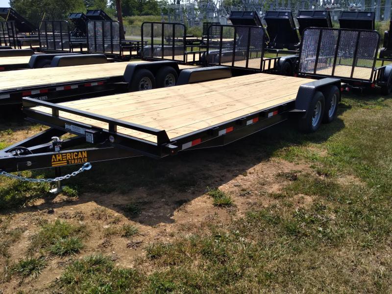 American Trailer General Duty Wood Deck SidexSide 22' - 9990 GVWR