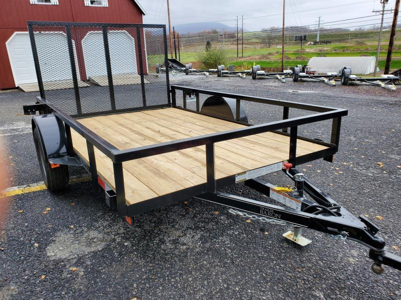"Quality Trailers 10'x77"" Pro Grade Utility- 4' Rear Spring Assist Gate- 3""x3""x3/16"" Angle Frame- 2""x2""x1/8"" Tube Top Railing- LED Lights- Nitrogen Filled Radial Tires- 3"" Channel Tongue"