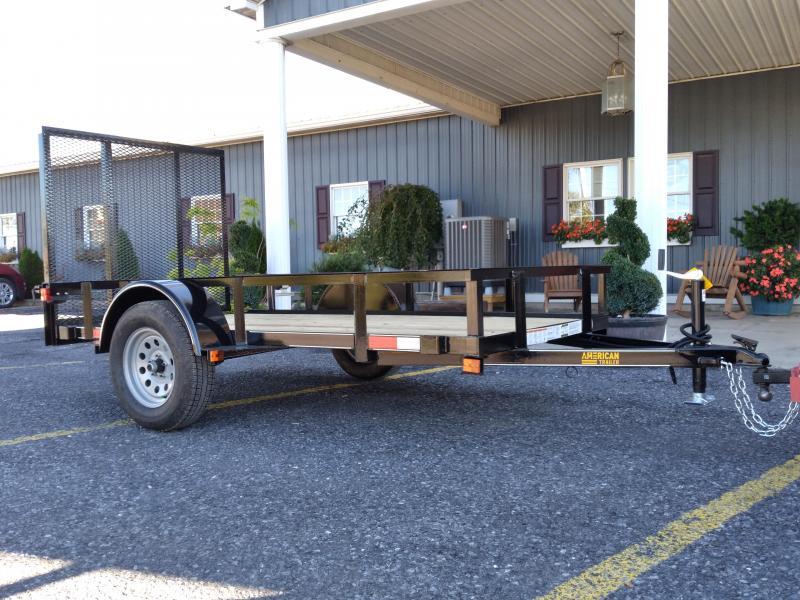 """American Trailer General Duty Landscape 10'x60""""-2990 GVWR- Nitrogen Filled Radial Tires- 4' Rear Ramp Gate"""