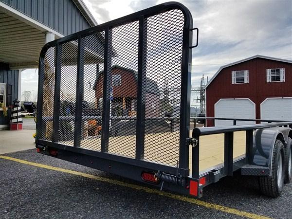 "X-On Tandem Axle Landscape 83""x18' 7000 GVWR  -4"" Channel Frame -2"" Pipe Top -Straight Deck -Teardrop Fenders -LED Lights -15"" Radial Tires"