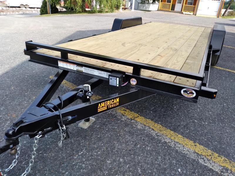 American Trailer Pro Grade Wood Deck Car Hauler 20' - 9990 GVWR