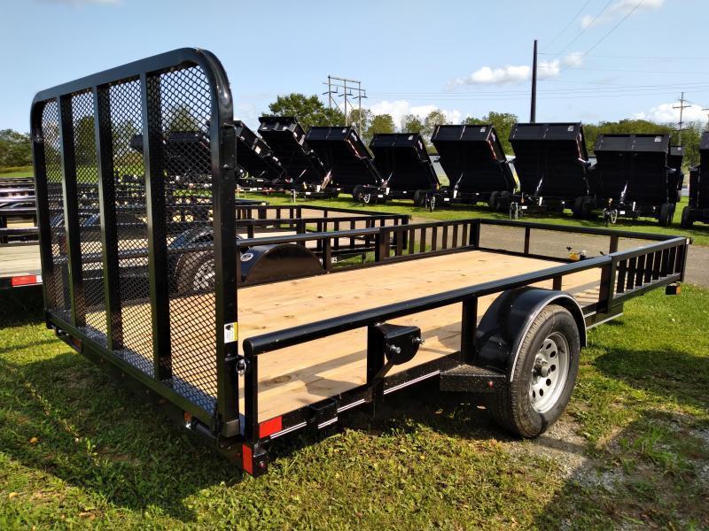 """2022 Delco Trailers Utility 14'x77"""" - 2990 GVWR - ATV Rails"""