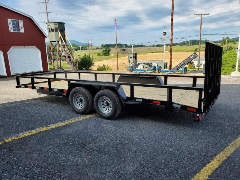 Pro Grade Tandem Axle Landscape 20 10K 4 Spring Assisted Gate Tube Top Rail 4 x3 x1 4 Angle Frame 5 Channel Tongue 2 Dovetail LED Lights 82 Inside Width 15 10 Ply Nitrogen Filled Radial Tires