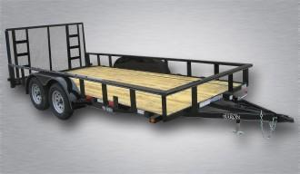 American Trailer Pro Grade Tandem Axle Landscape 20 10K 4 Spring Assisted Gate Tube Top Rail 4 x3 x1 4 Angle Frame 5 Channel Tongue 2 Dovetail LED Lights 82 Inside Width 15 10 Ply Nitrogen Filled Radial Tires