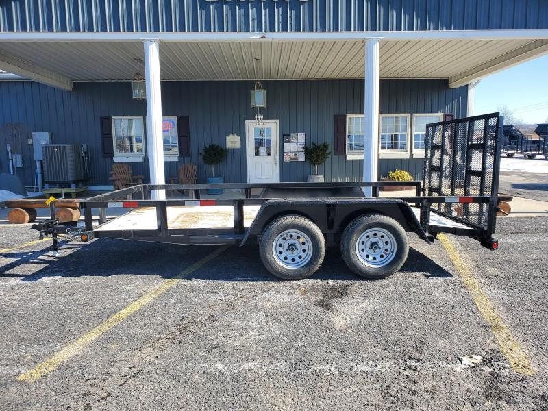 "Quality Trailers General Duty Tandem Axle Landscape 14' 7K -4' Spring Assisted Gate -3""x3""x3/16"" Angle Frame -3""x3""x3/16"" Angle Top Rail -4"" Channel Tongue -2' Dovetail -82"" Inside Width 15"" Nitrogen Filled Radial Tires"