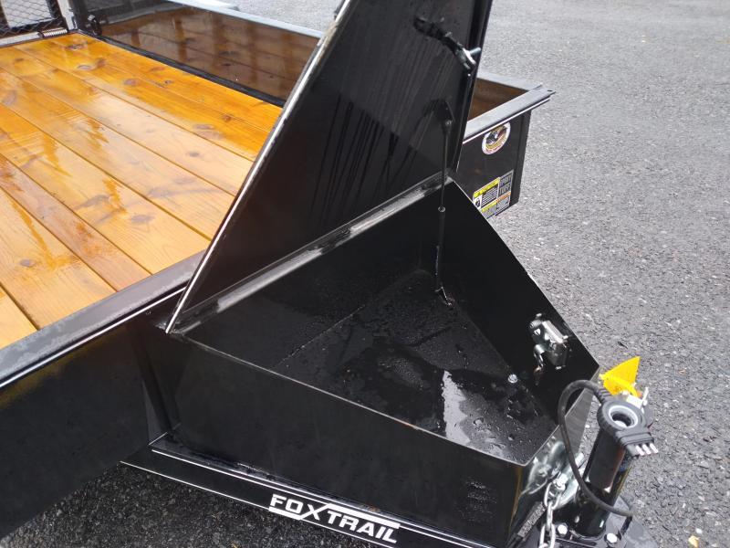 2021 Fox Trail Utility Trailer Solid Side / 2990 GVWR / 77'X12' / 5' Mesh Gate