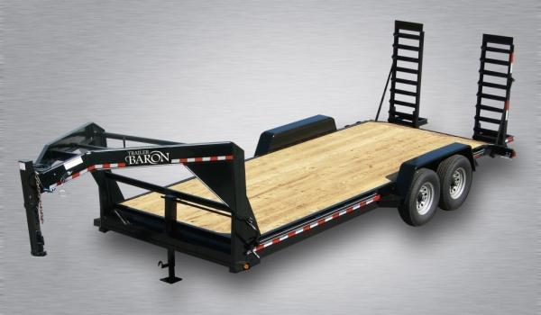 "Trailer Baron Pro-Grade Fender Equipment Gooseneck 20' 15K -5' Swing Up Ramps -6"" Channel Frame -8"" Neck -12k Drop Leg Jack -7000# Braking Axles -16"" Nitrogen Filled Radial Tires"