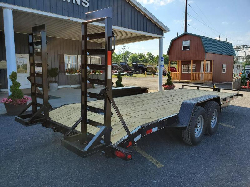 "Trailer Baron General Duty Equipment 20' 14K -5' Swing Up Ramps -6"" Channel Frame -6"" Tongue -Adjustable Coupler -7K Drop Leg Jack -2' Dovetail -Sealed Beam Lights -16"" 10 Ply Nitrogen Filled Radial Tires"