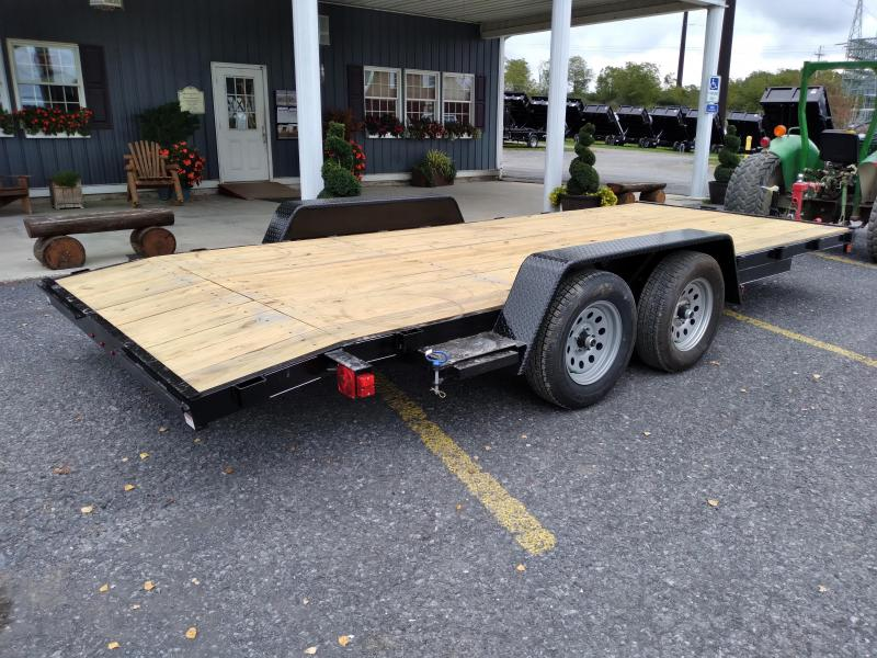 American Trailer Economy Wood Deck Car Hauler / 18 / 7000 GVWR