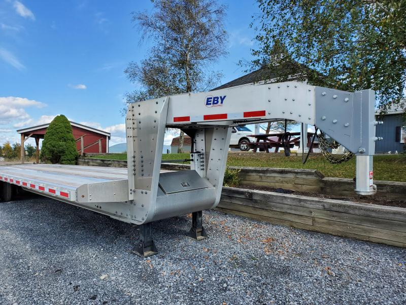 2019 EBY Gooseneck Flatbed Trailer 30 5 25K GVWR Gooseneck and King Pin Adapter