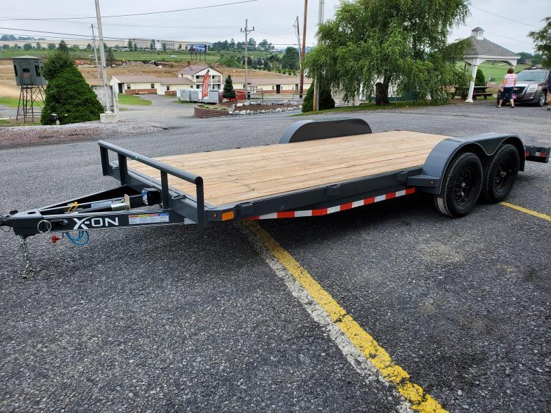"X-On Car Hauler / 83""x18' / 7000 GVWR / Removable Fenders / Spare Mount"