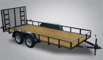 "2020 Quality Trailers Economy Tandem Axle Utility Trailer 18'- 7K GVWR- 77"" Between Fenders- 3""x3""x3/16"" Angle Frame- 2""x2""x1/8"" Top Rail- 4' Rear Gate- 4"" Channel Tongue- 2 5/16"" Coupler- 15"" Nitrogen Filled Radial Tires"