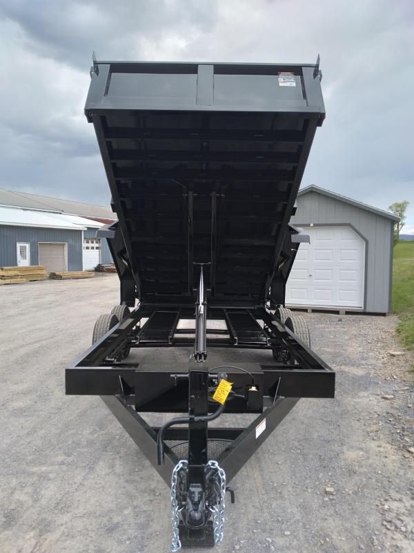 """2021 Hawke Trailers Low Profile Dump Trailer  / 80""""x12' / 12,000 GVWR / Scissor Lift / Double Barn Door Rear Gate"""