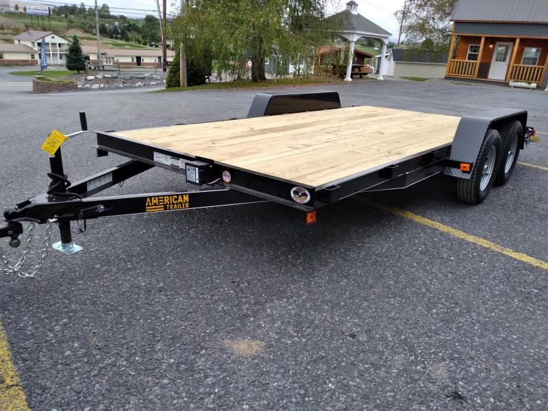 2022 American Trailer / Economy Wood Deck Car Hauler / 16' / 7000 GVWR