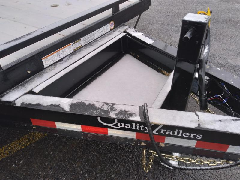 "Quality Trailers General Duty Pintle Deckover - 9990 GVWR - 20' (16+4) - Tool Tray - 15"" Castle Rock Nitrogen Filled Radial Tires - Stand-up Rear Ramps - Pintle Ring"