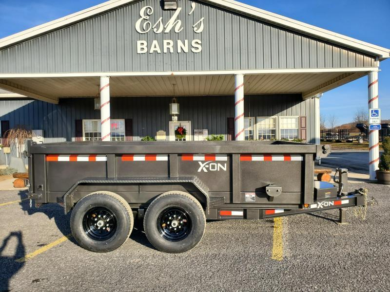 "2021 X-On Low Profile Dump Trailer - 83""x12' - 14K Dump Trailer - 24"" sides - Mesh Tarp Kit - Adjustable Coupler"